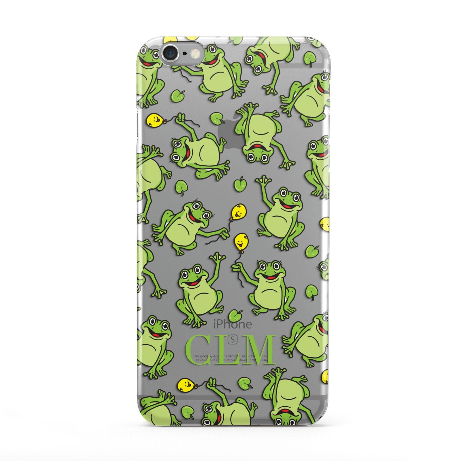 Personalised Frog Initials Apple iPhone 6 Plus Case