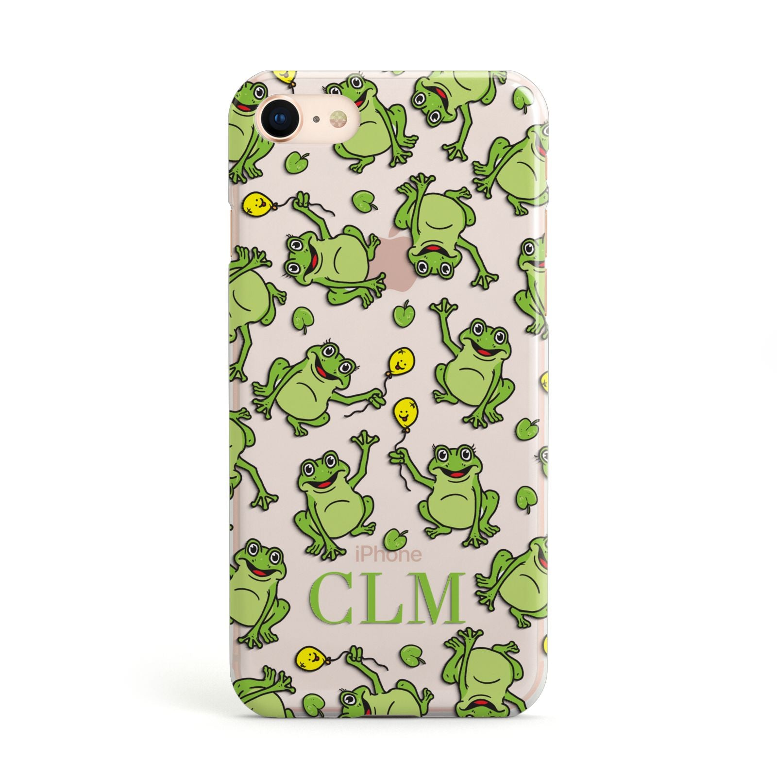 Personalised Frog Initials Apple iPhone Case