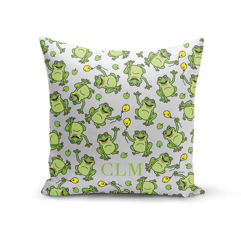 Personalised Frog Initials Cushion