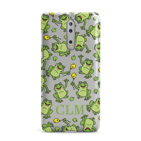 Personalised Frog Initials Nokia Case