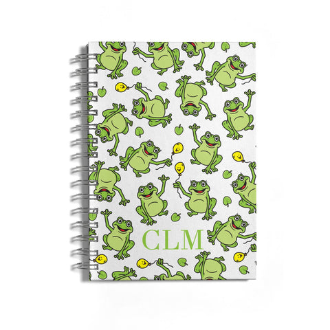 Personalised Frog Initials Notebook