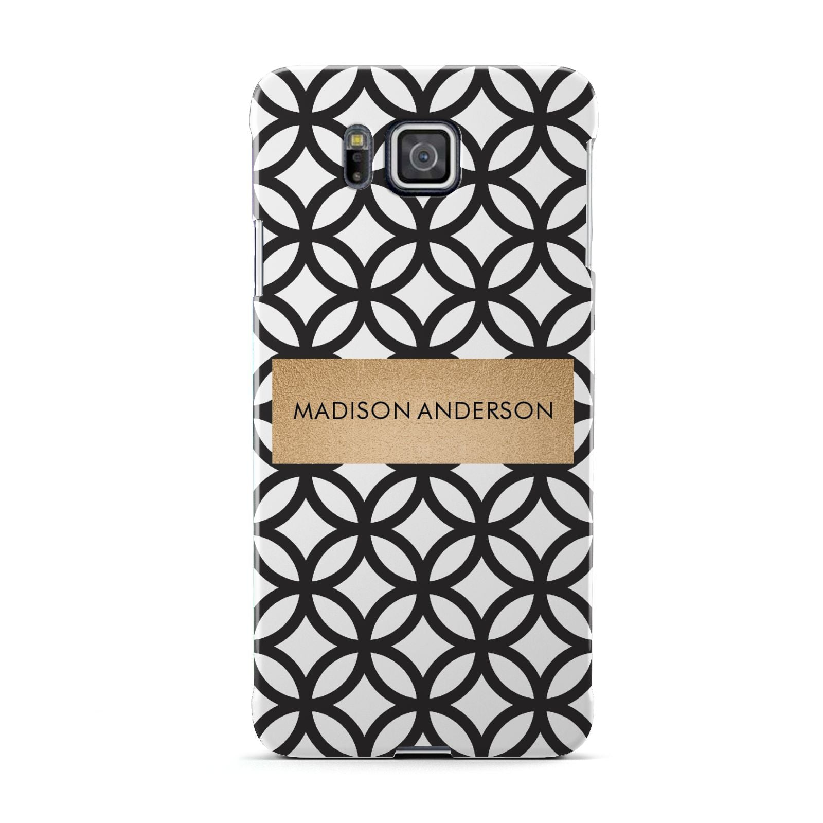Personalised Geometric Name Or Initials Custom Samsung Galaxy Alpha Case