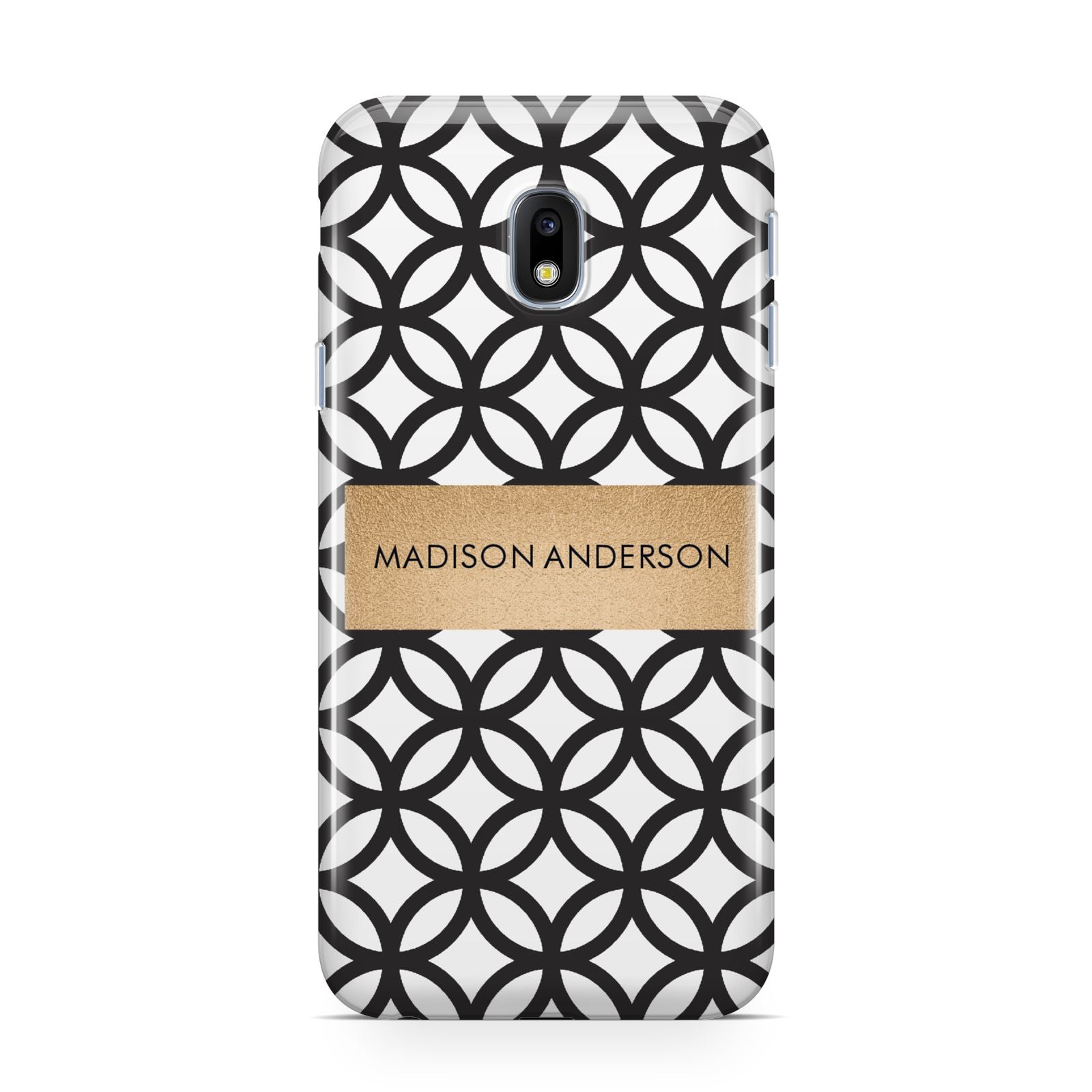 Personalised Geometric Name Or Initials Custom Samsung Galaxy J3 2017 Case