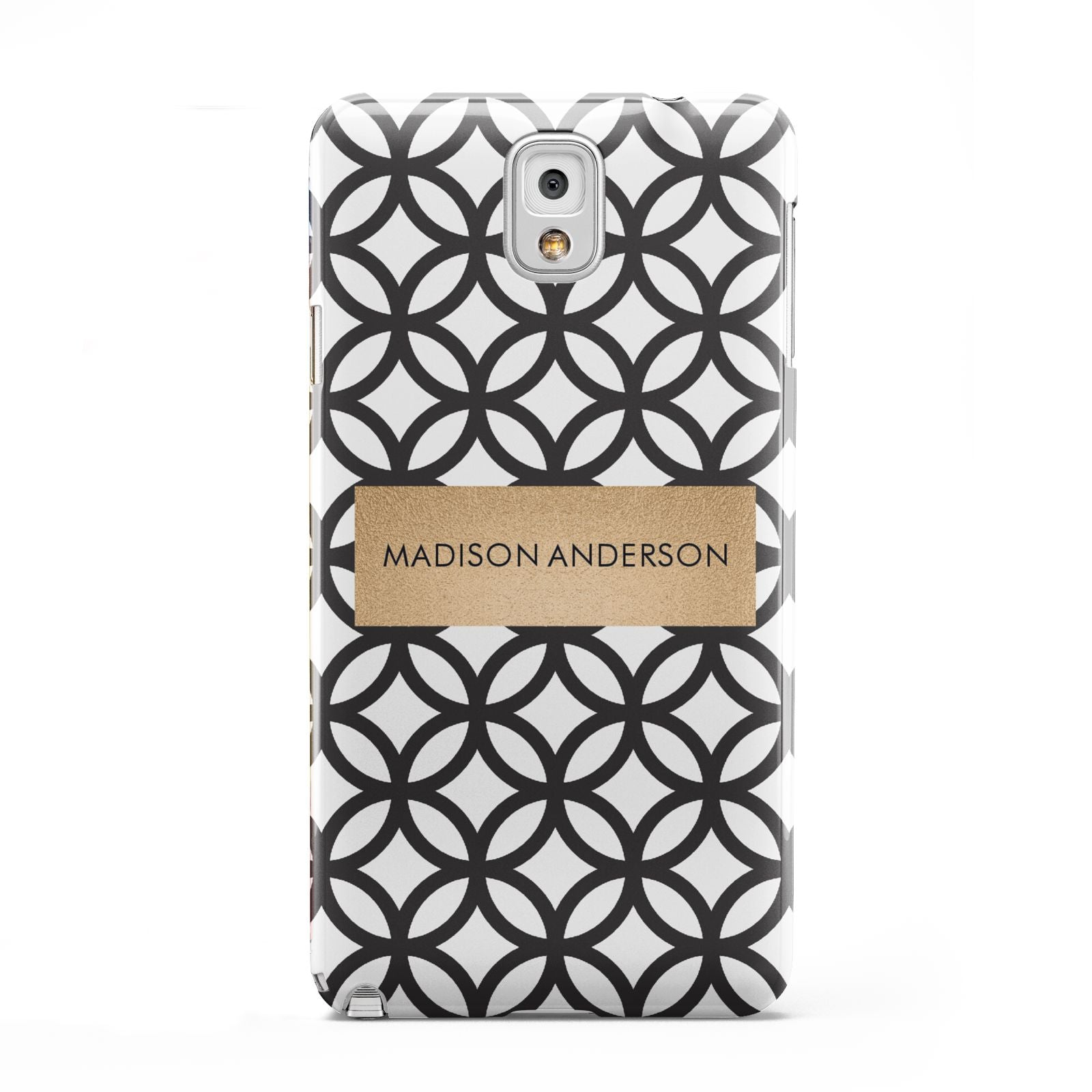 Personalised Geometric Name Or Initials Custom Samsung Galaxy Note 3 Case