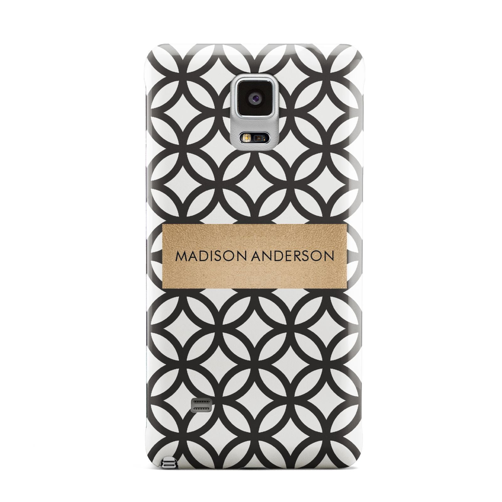 Personalised Geometric Name Or Initials Custom Samsung Galaxy Note 4 Case