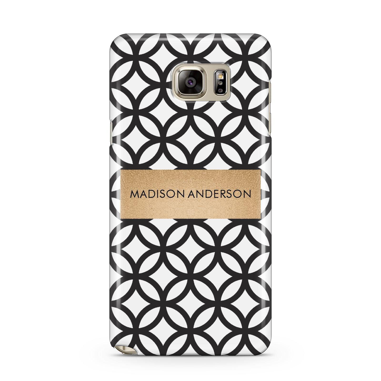 Personalised Geometric Name Or Initials Custom Samsung Galaxy Note 5 Case