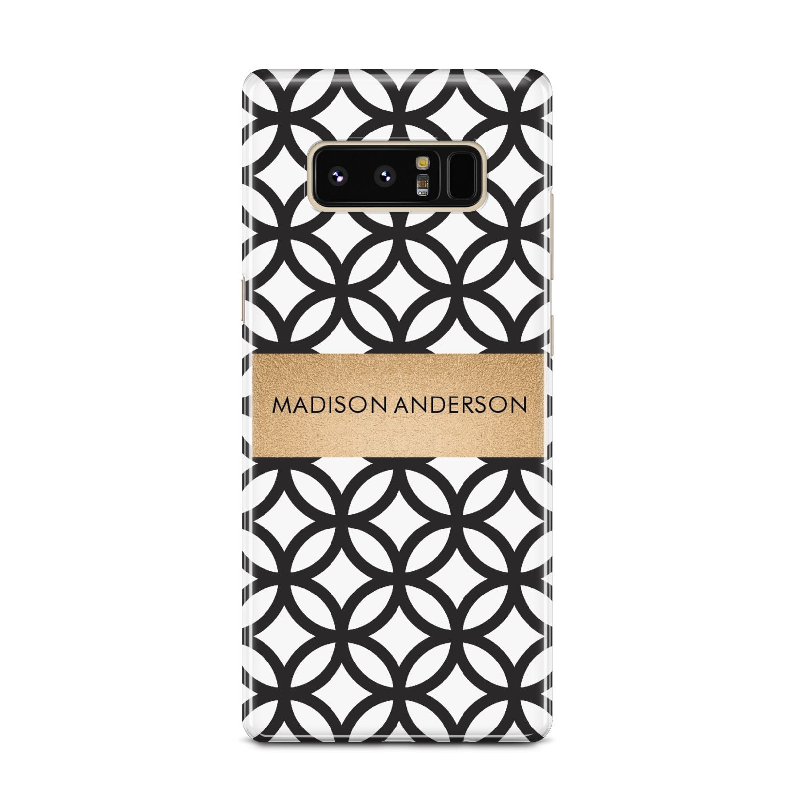 Personalised Geometric Name Or Initials Custom Samsung Galaxy Note 8 Case