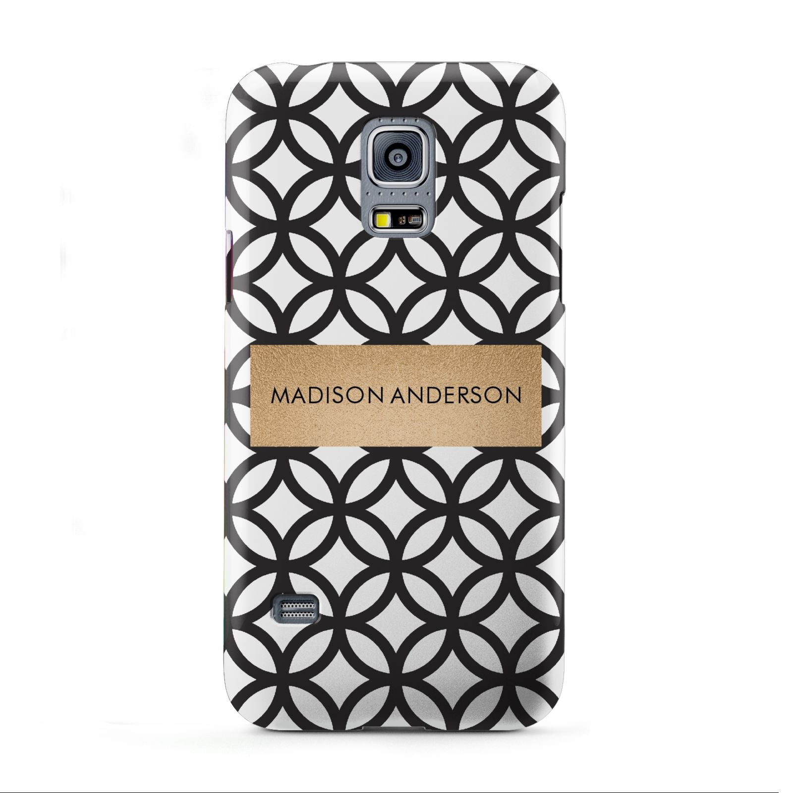 Personalised Geometric Name Or Initials Custom Samsung Galaxy S5 Mini Case