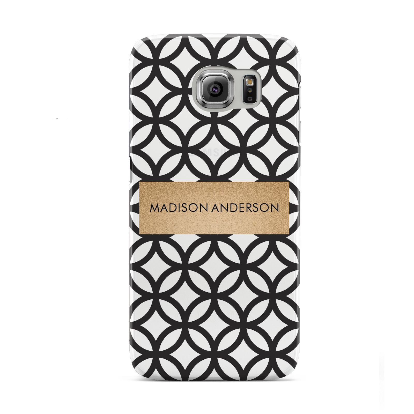 Personalised Geometric Name Or Initials Custom Samsung Galaxy S6 Case