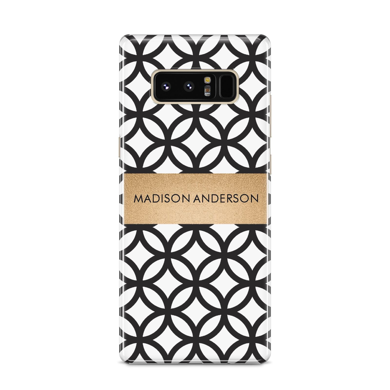 Personalised Geometric Name Or Initials Custom Samsung Galaxy S8 Case