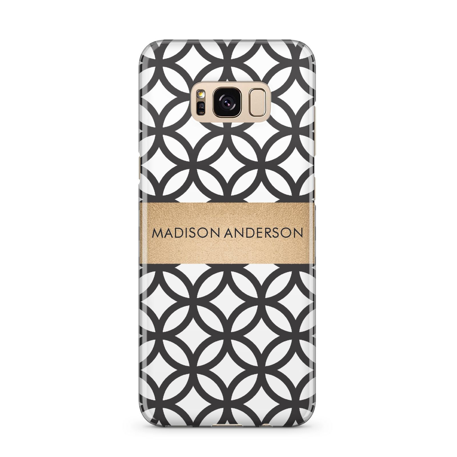 Personalised Geometric Name Or Initials Custom Samsung Galaxy S8 Plus Case