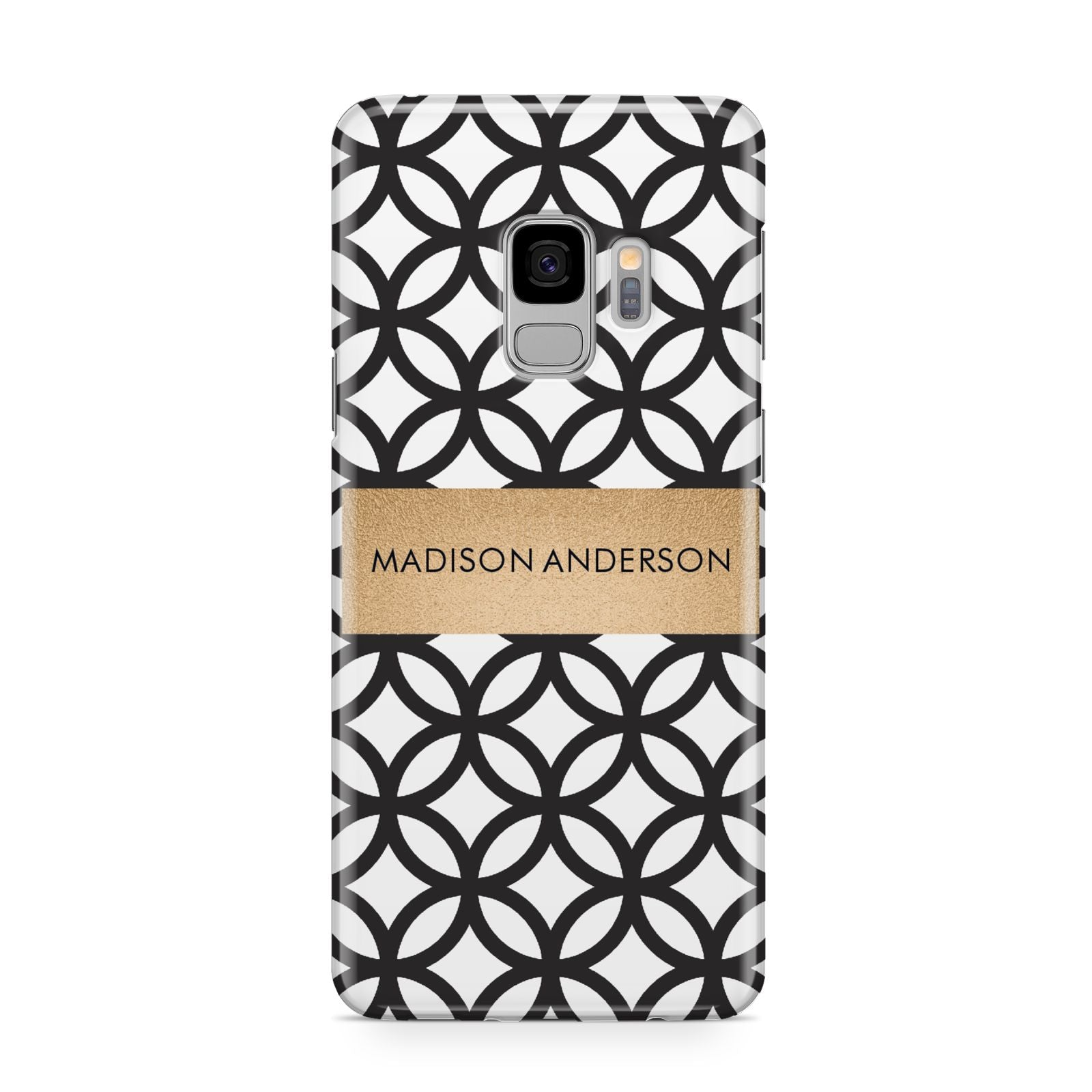 Personalised Geometric Name Or Initials Custom Samsung Galaxy S9 Case