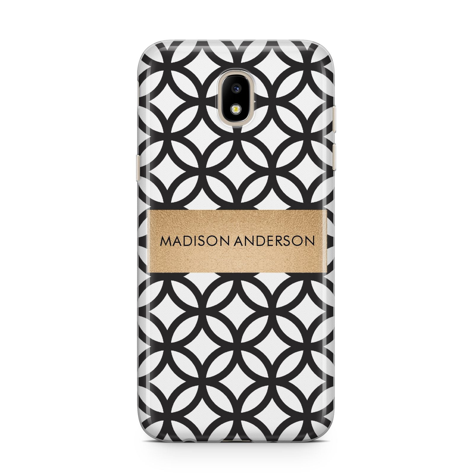 Personalised Geometric Name Or Initials Custom Samsung J5 2017 Case