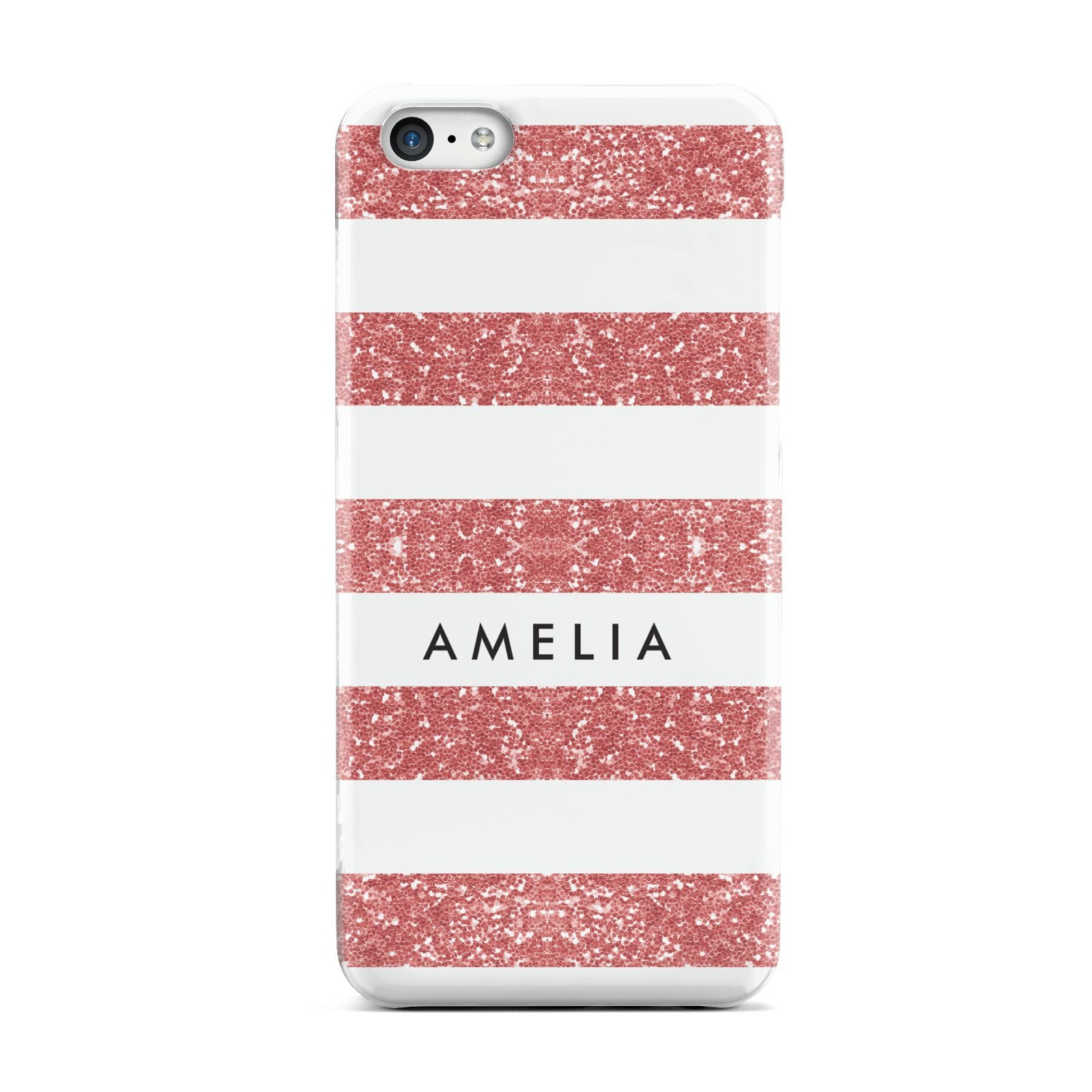 Personalised Glitter Effect Name Initials Apple iPhone 5c Case