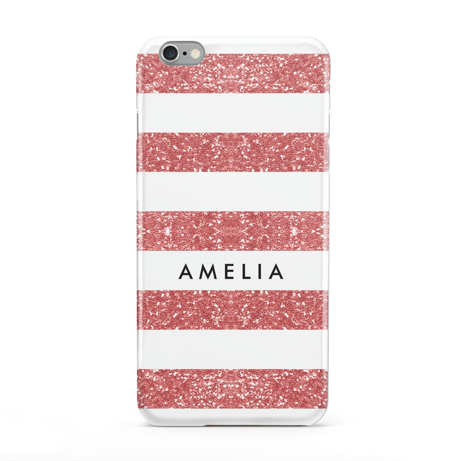 Personalised Glitter Effect Name Initials Apple iPhone 6 Plus Case