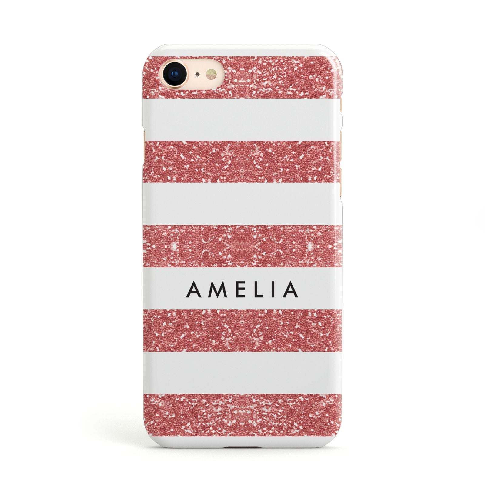 Personalised Glitter Effect Name Initials Apple iPhone Case