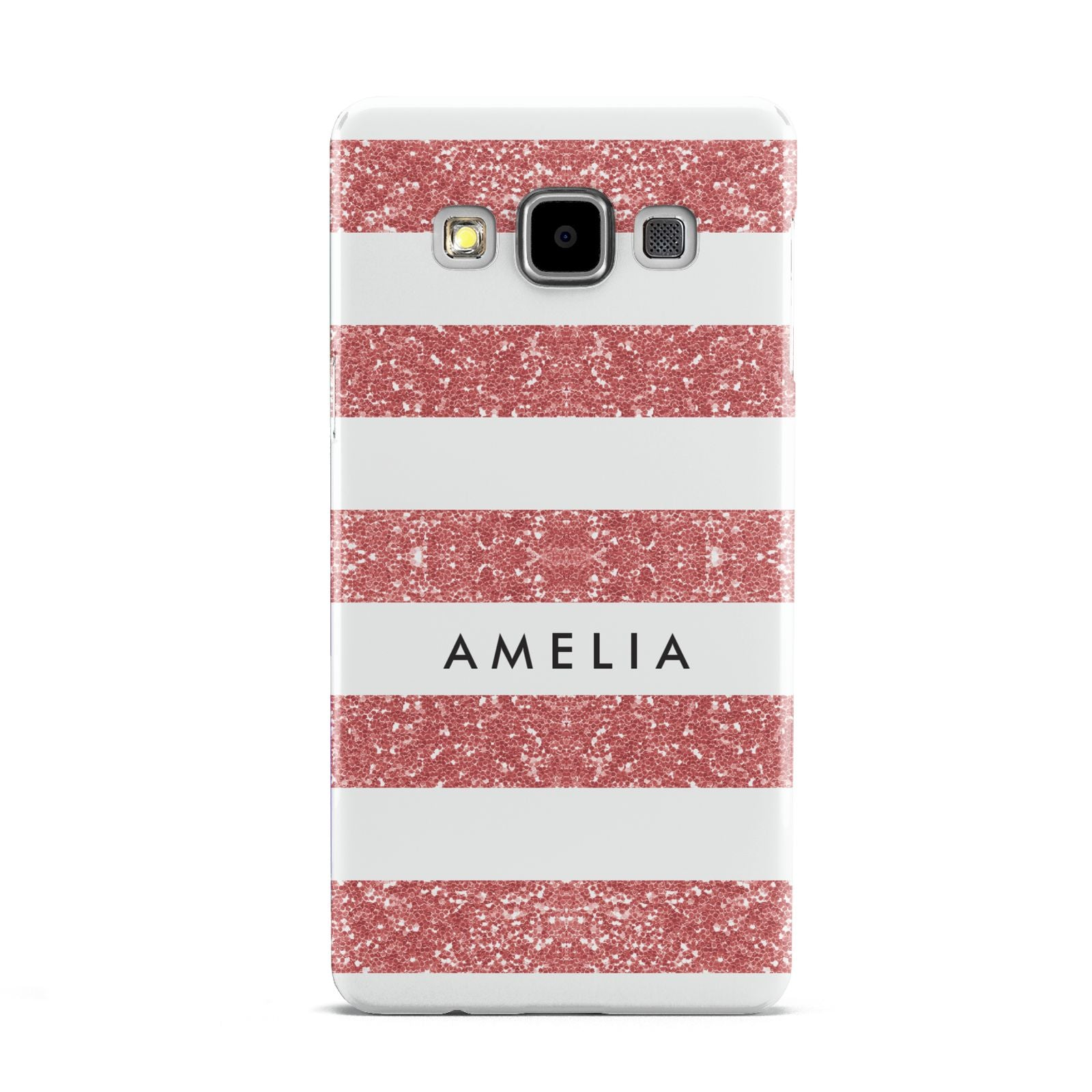 Personalised Glitter Effect Name Initials Samsung Galaxy A5 Case
