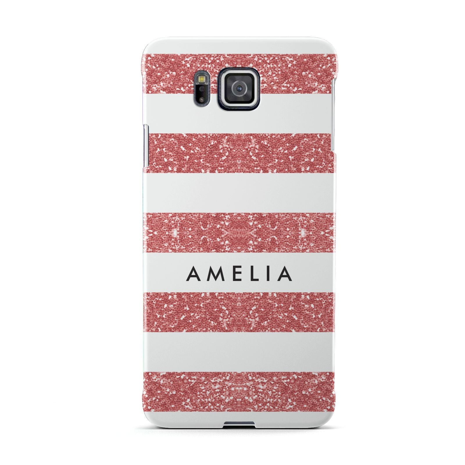 Personalised Glitter Effect Name Initials Samsung Galaxy Alpha Case