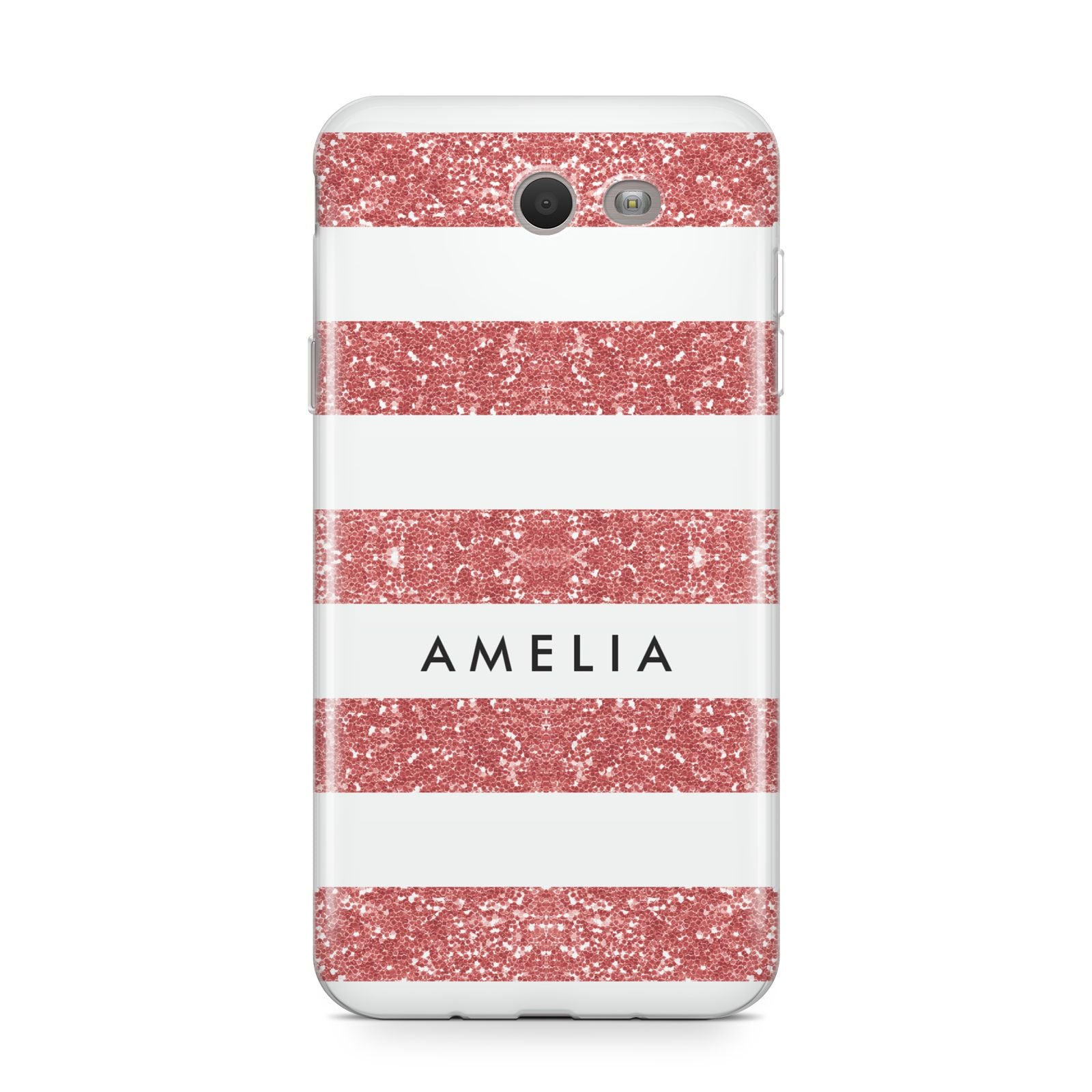 Personalised Glitter Effect Name Initials Samsung Galaxy J7 2017 Case
