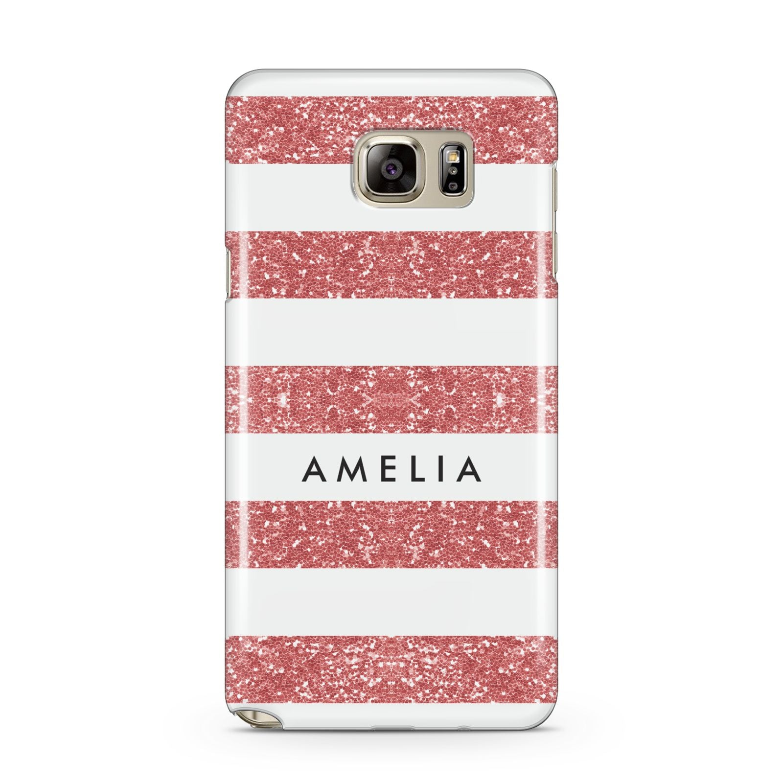 Personalised Glitter Effect Name Initials Samsung Galaxy Note 5 Case