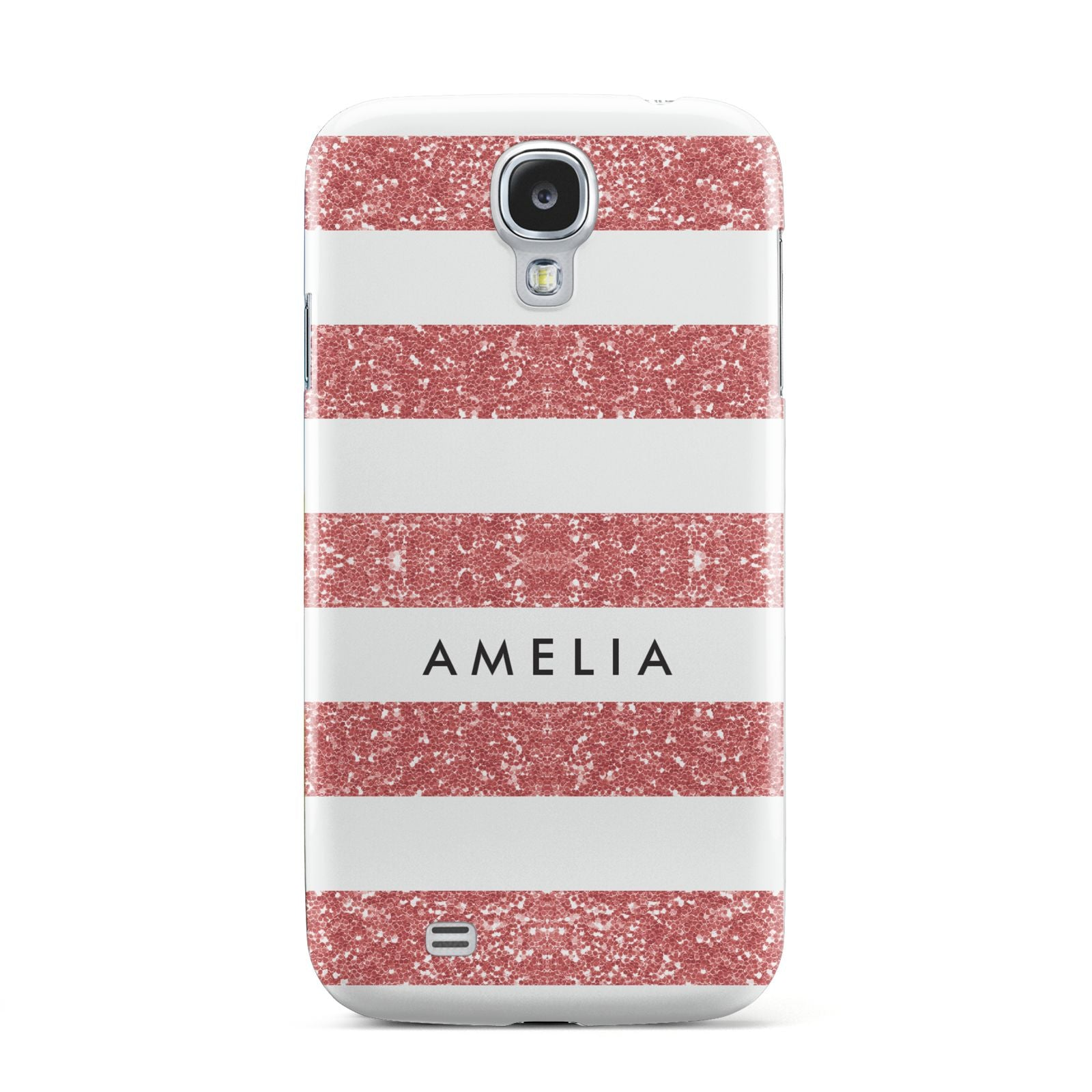 Personalised Glitter Effect Name Initials Samsung Galaxy S4 Case