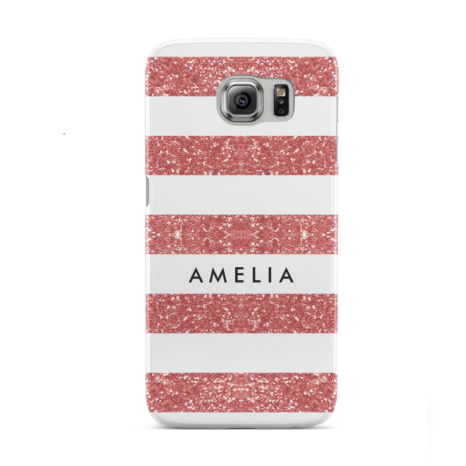 Personalised Glitter Effect Name Initials Samsung Galaxy S6 Case