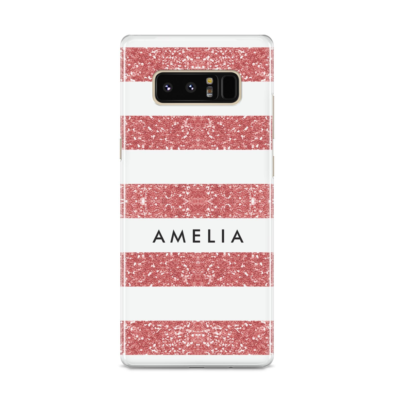 Personalised Glitter Effect Name Initials Samsung Galaxy S8 Case