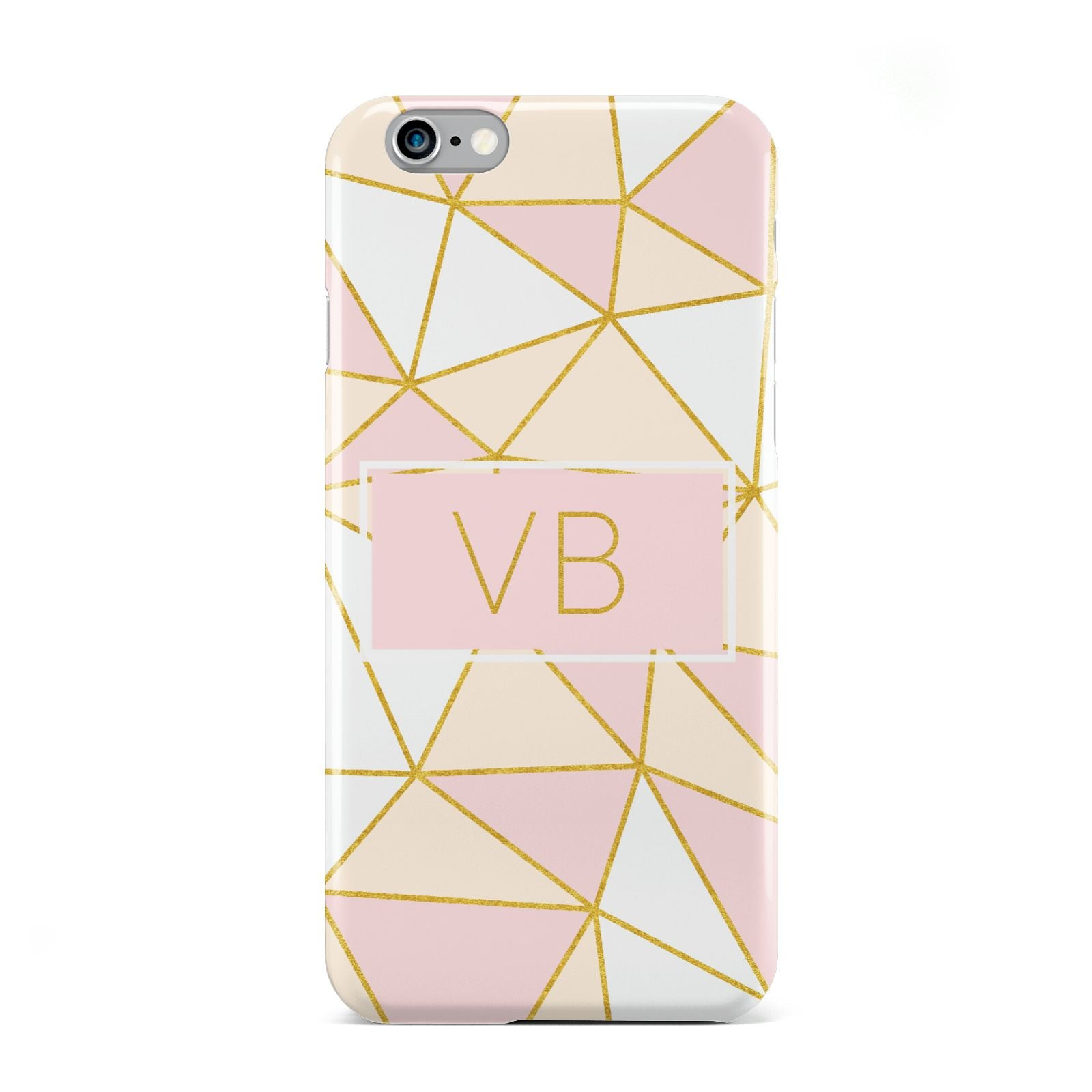 Personalised Gold Initials Geometric Apple iPhone 6 Case