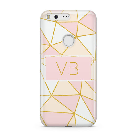 Personalised Gold Initials Geometric Google Case
