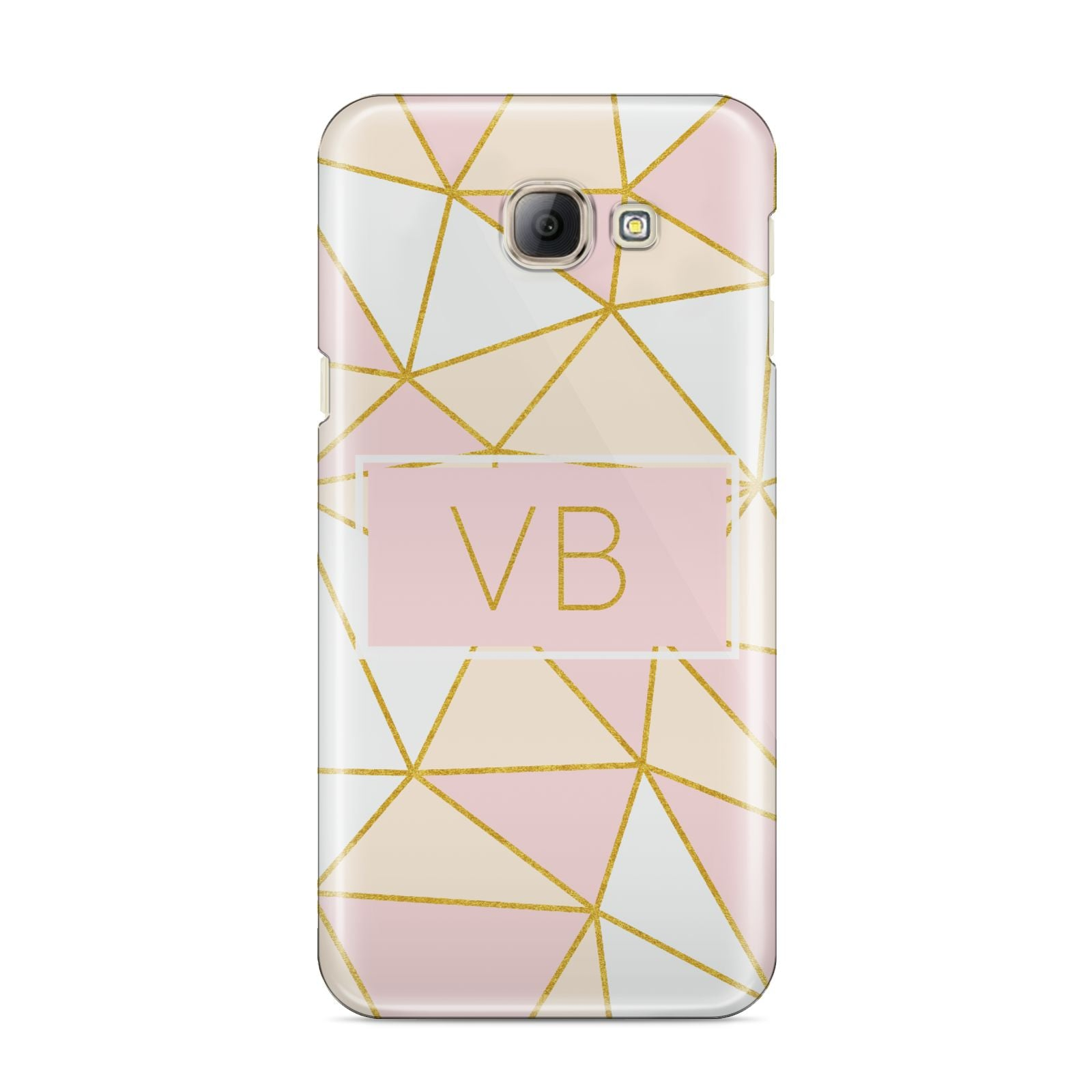 Personalised Gold Initials Geometric Samsung Galaxy A8 2016 Case