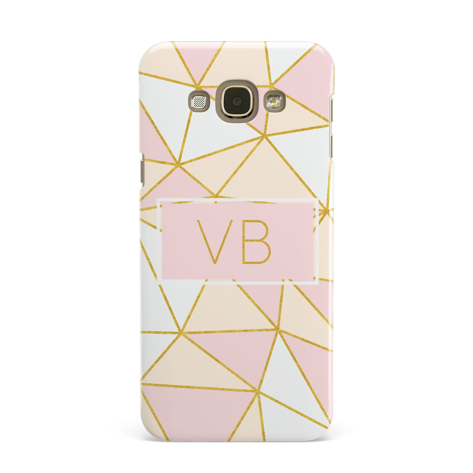 Personalised Gold Initials Geometric Samsung Galaxy A8 Case