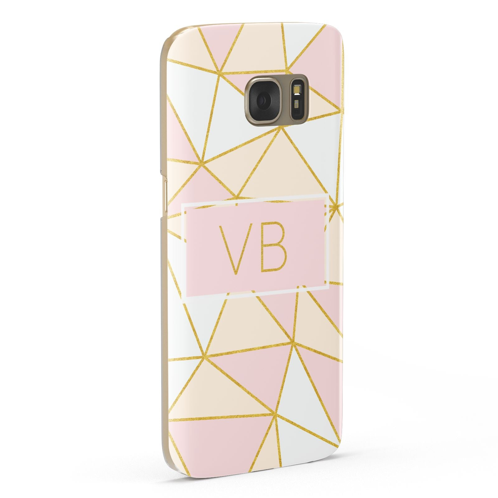 Personalised Gold Initials Geometric Samsung Galaxy Case Fourty Five Degrees