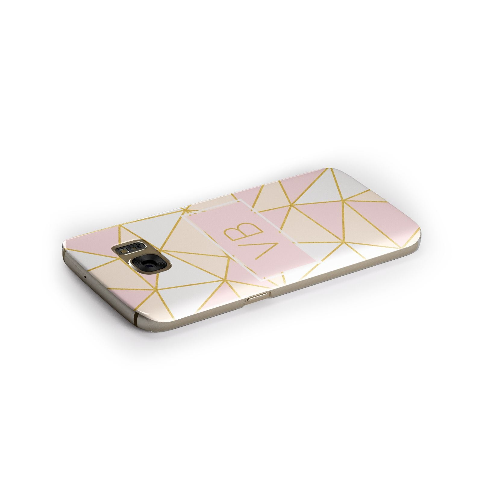 Personalised Gold Initials Geometric Samsung Galaxy Case Side Close Up