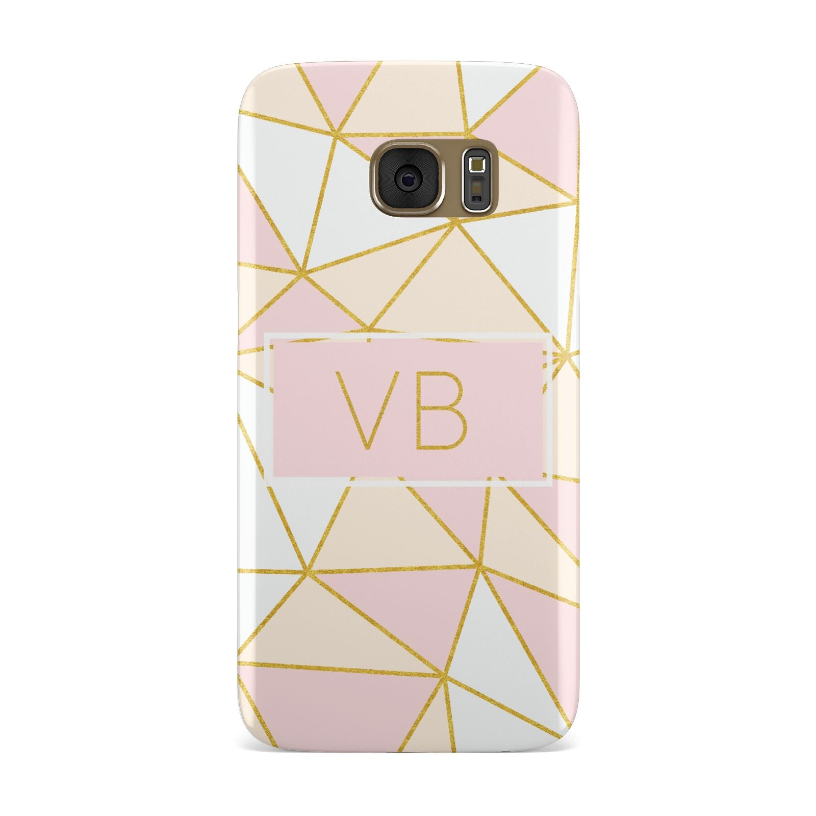 Personalised Gold Initials Geometric Samsung Galaxy Case