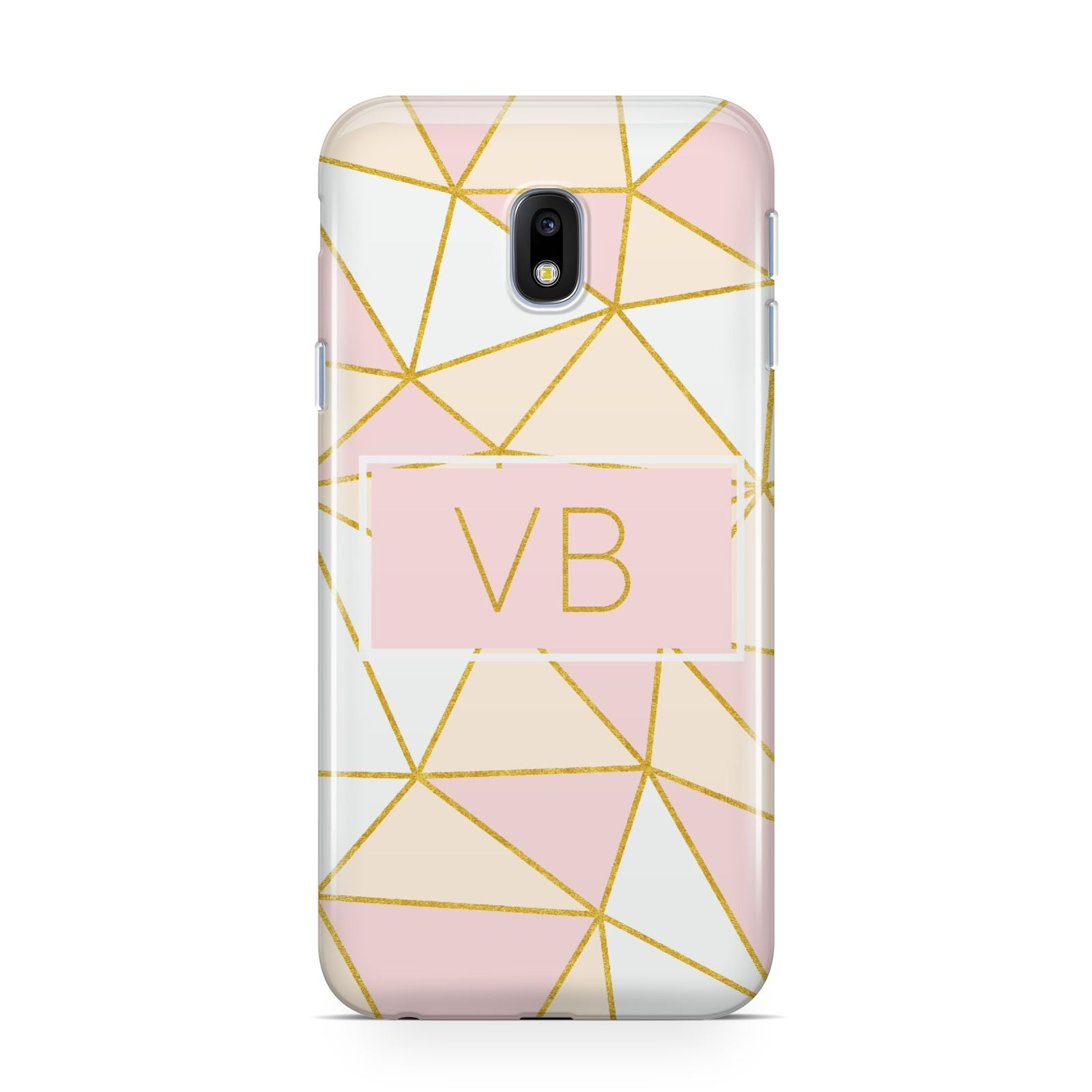 Personalised Gold Initials Geometric Samsung Galaxy J3 2017 Case