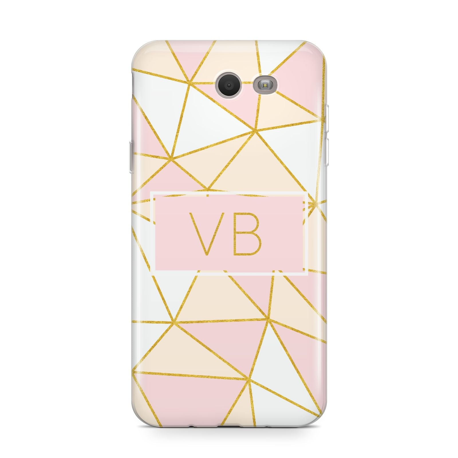 Personalised Gold Initials Geometric Samsung Galaxy J7 2017 Case
