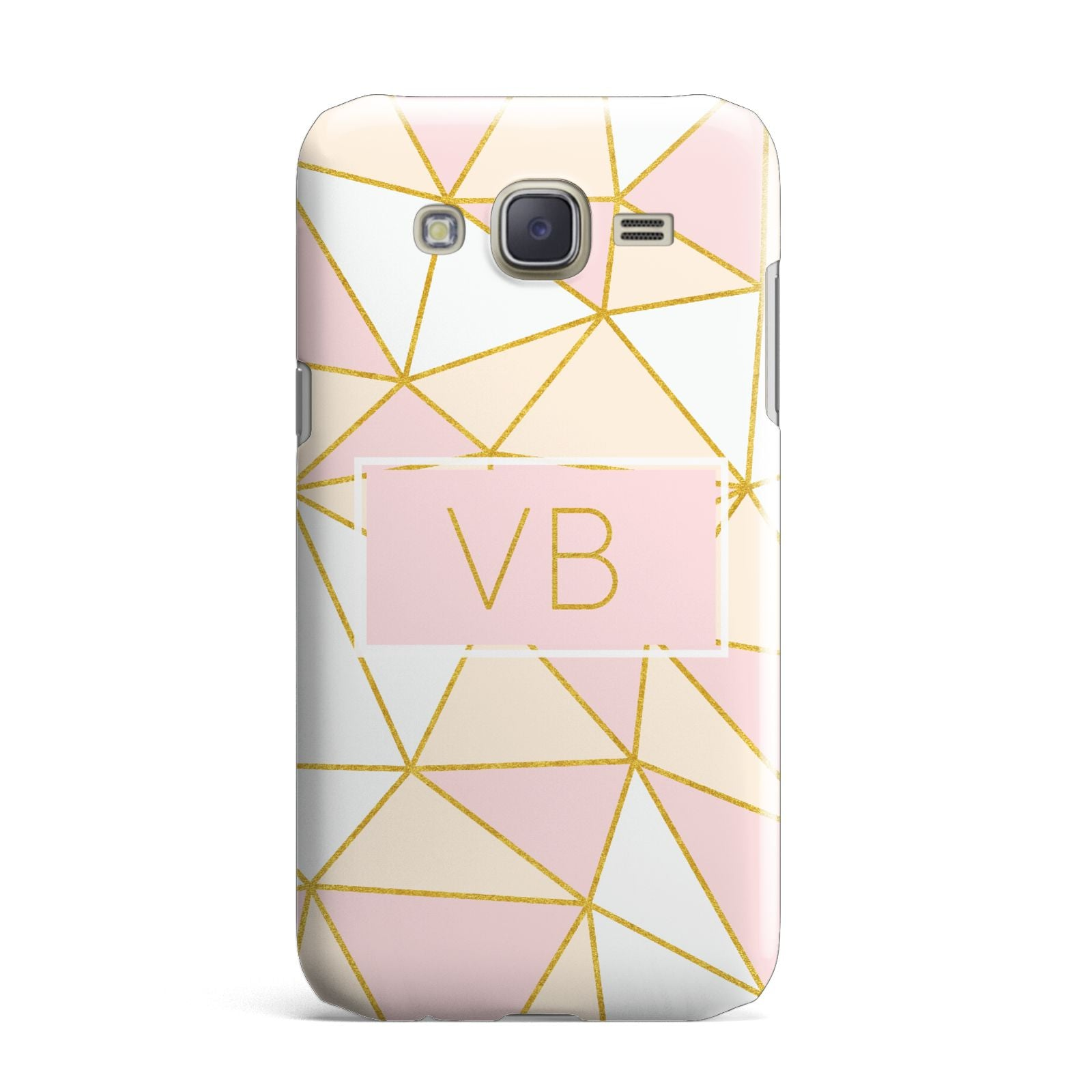 Personalised Gold Initials Geometric Samsung Galaxy J7 Case