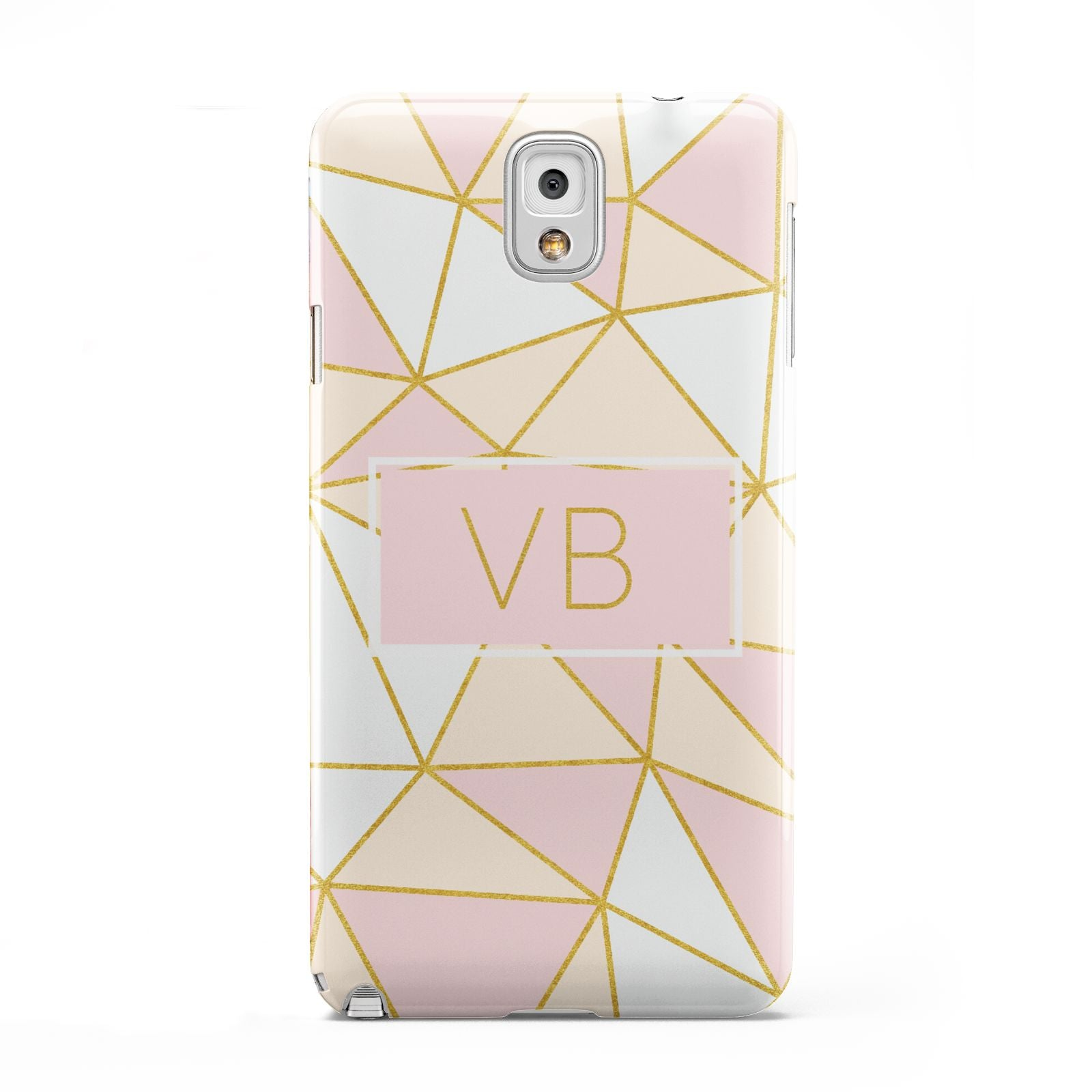 Personalised Gold Initials Geometric Samsung Galaxy Note 3 Case