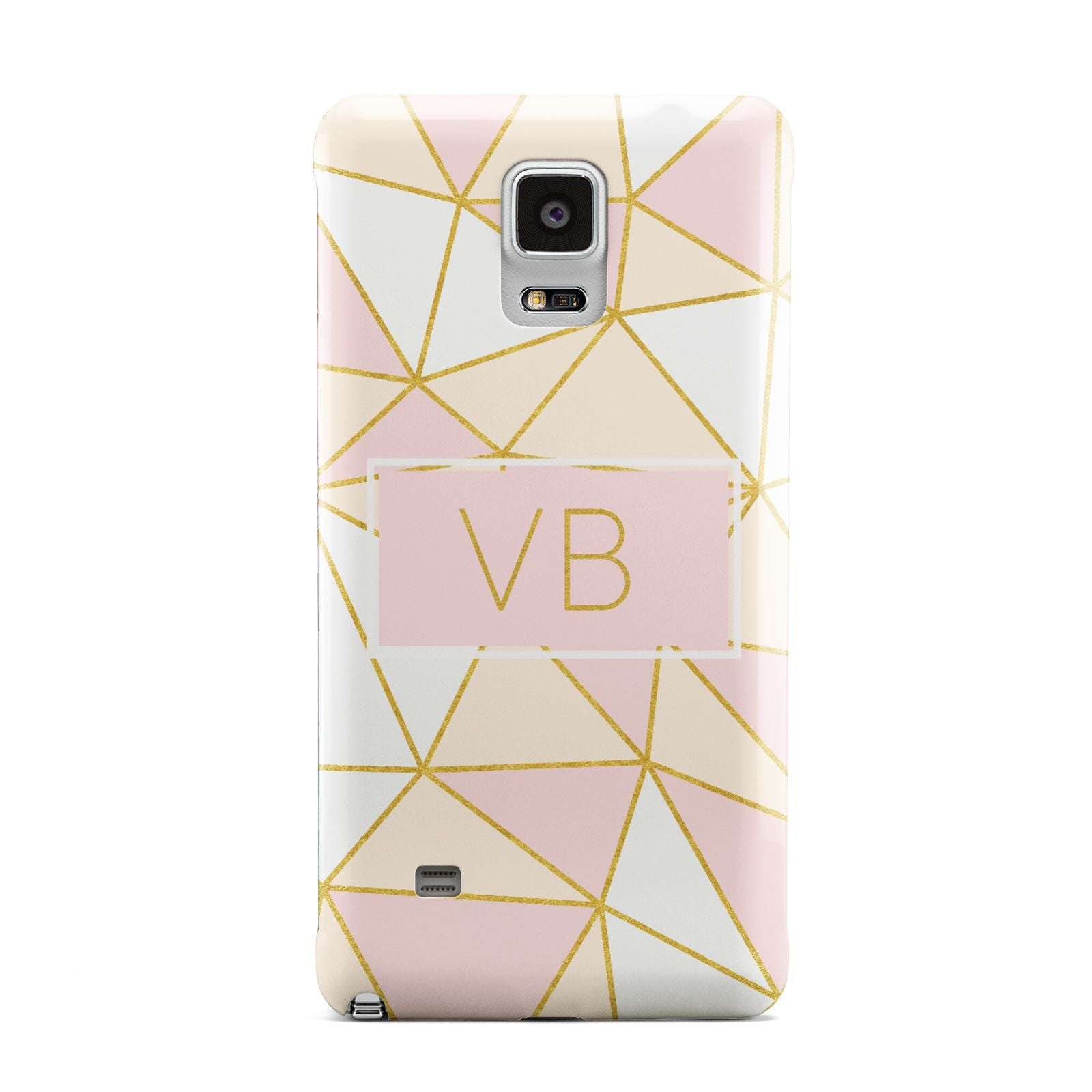 Personalised Gold Initials Geometric Samsung Galaxy Note 4 Case