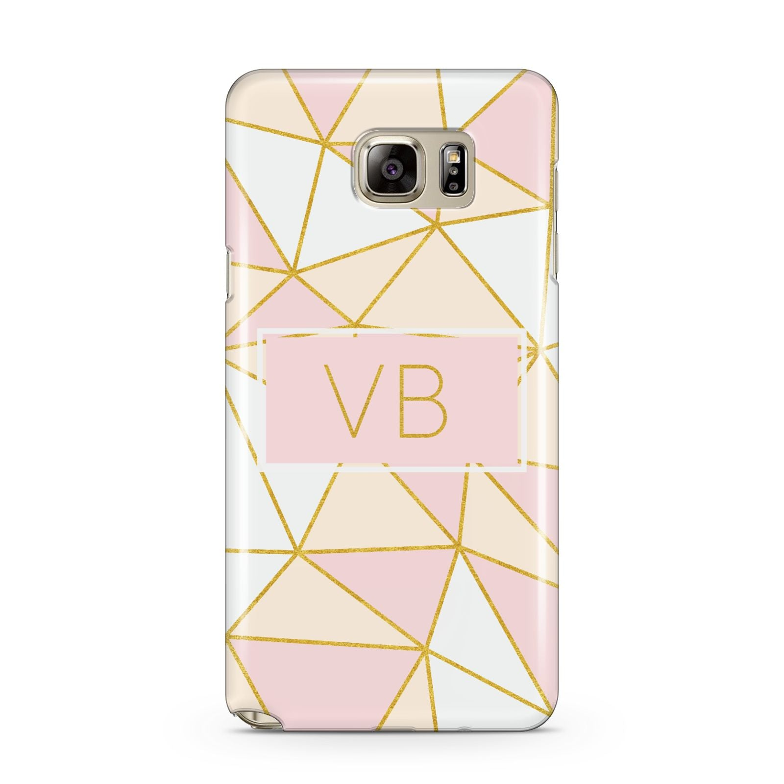 Personalised Gold Initials Geometric Samsung Galaxy Note 5 Case
