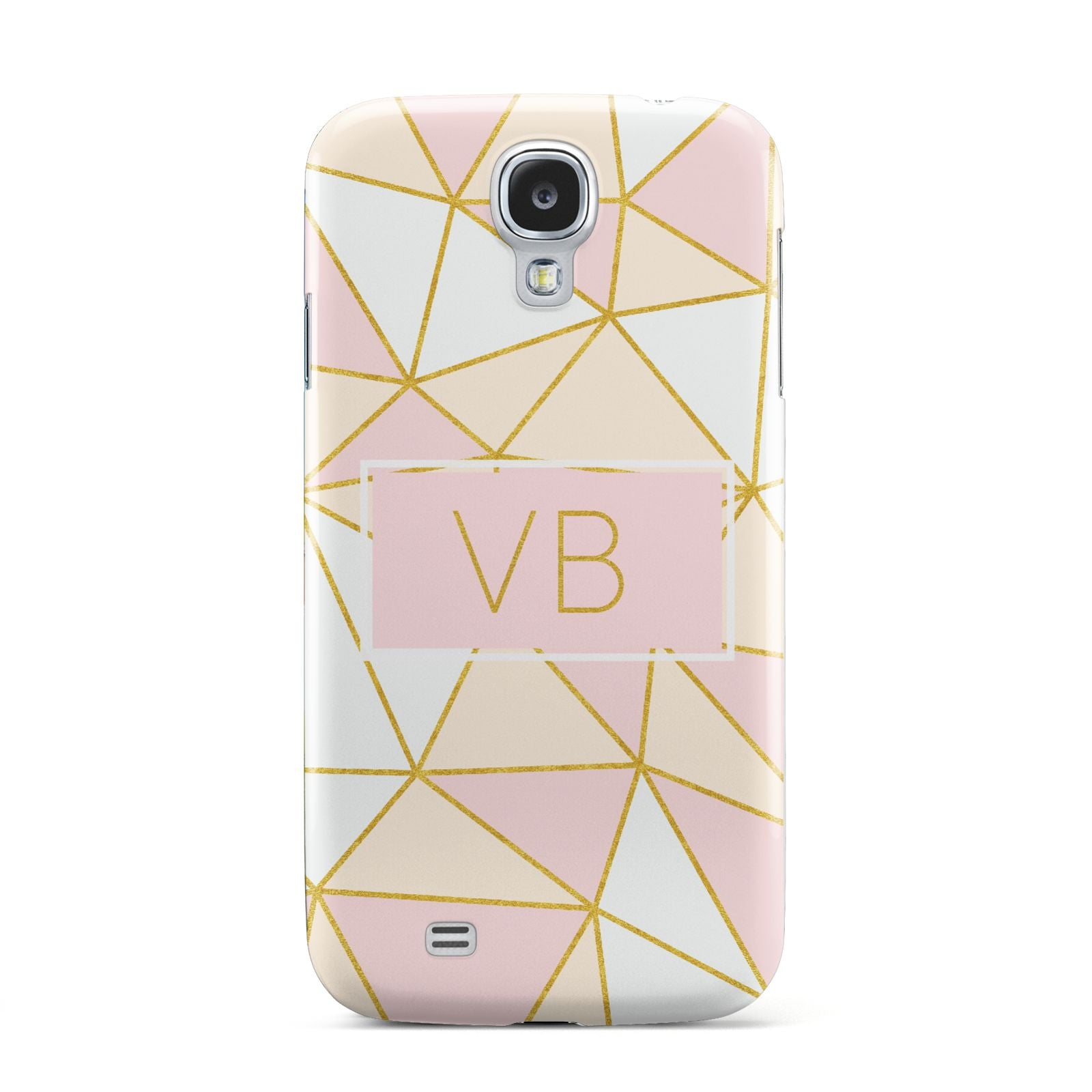 Personalised Gold Initials Geometric Samsung Galaxy S4 Case