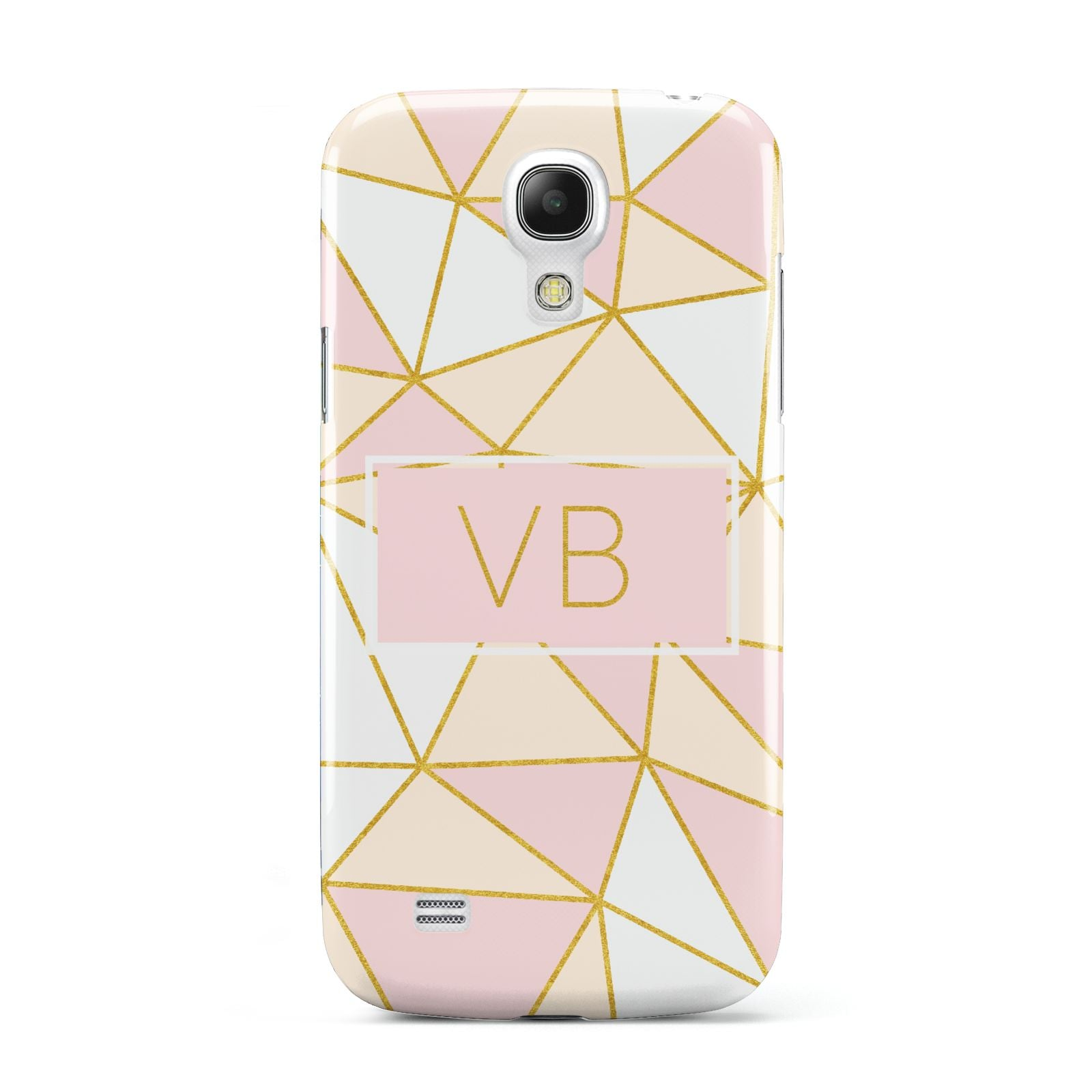 Personalised Gold Initials Geometric Samsung Galaxy S4 Mini Case