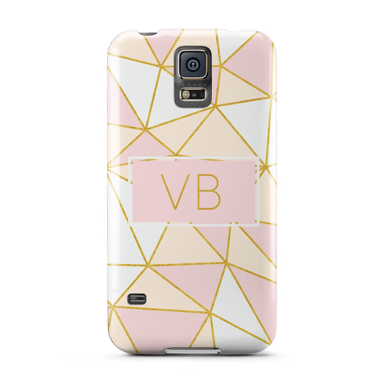 Personalised Gold Initials Geometric Samsung Galaxy S5 Case