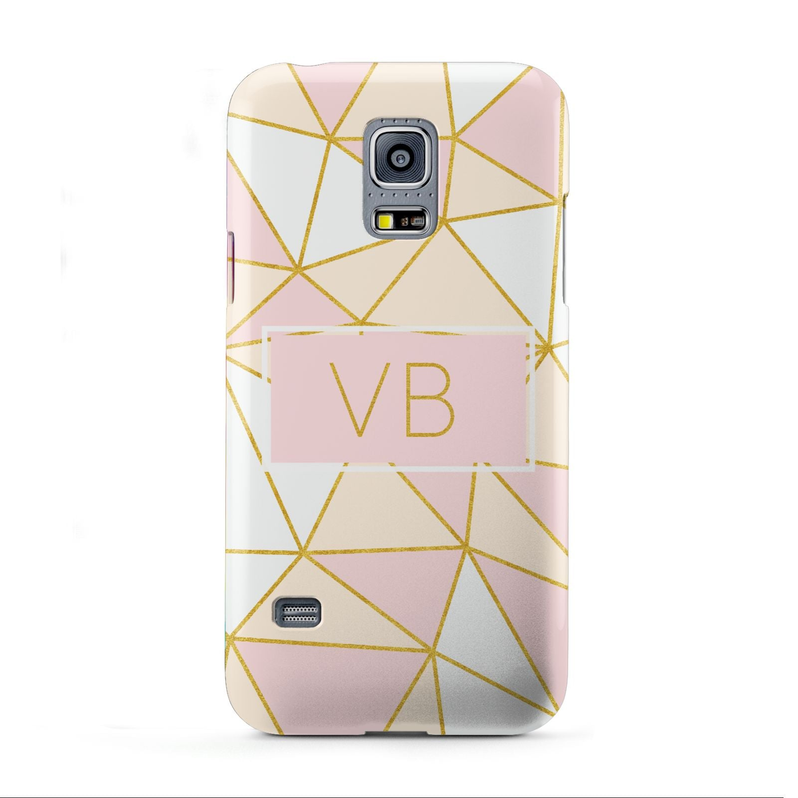 Personalised Gold Initials Geometric Samsung Galaxy S5 Mini Case