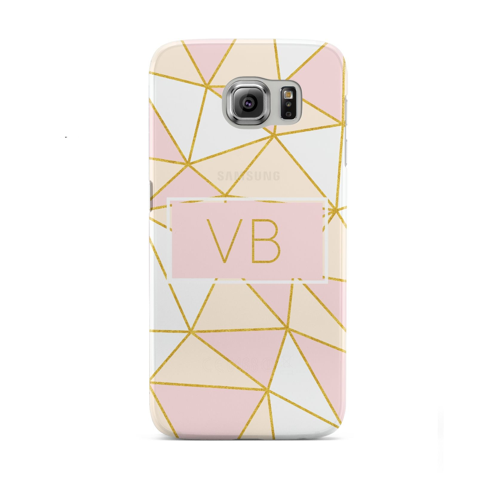 Personalised Gold Initials Geometric Samsung Galaxy S6 Case