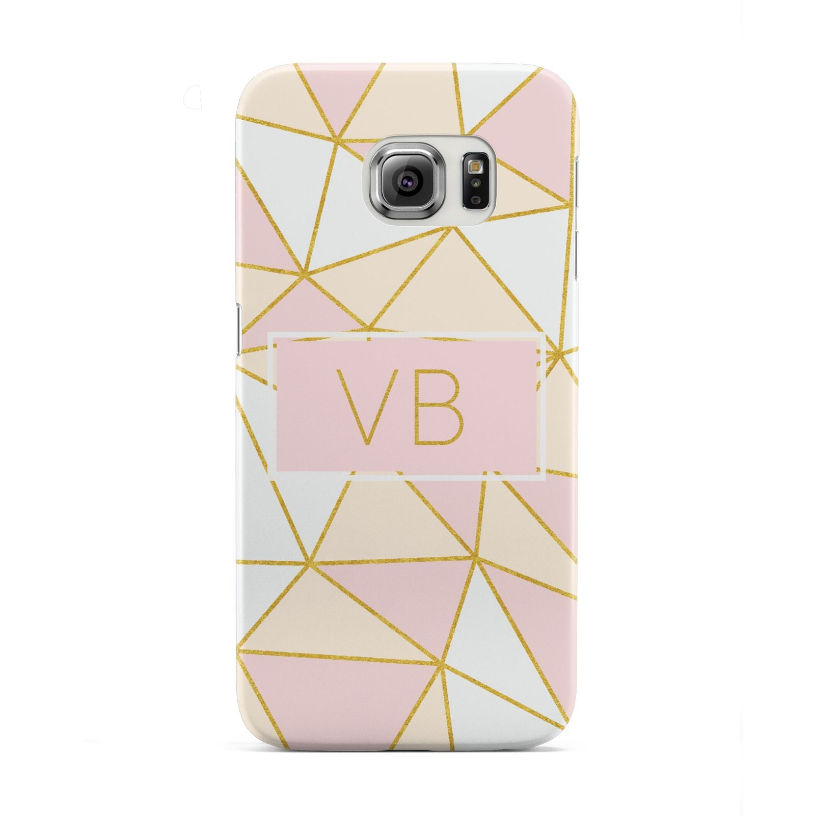 Personalised Gold Initials Geometric Samsung Galaxy S6 Edge Case