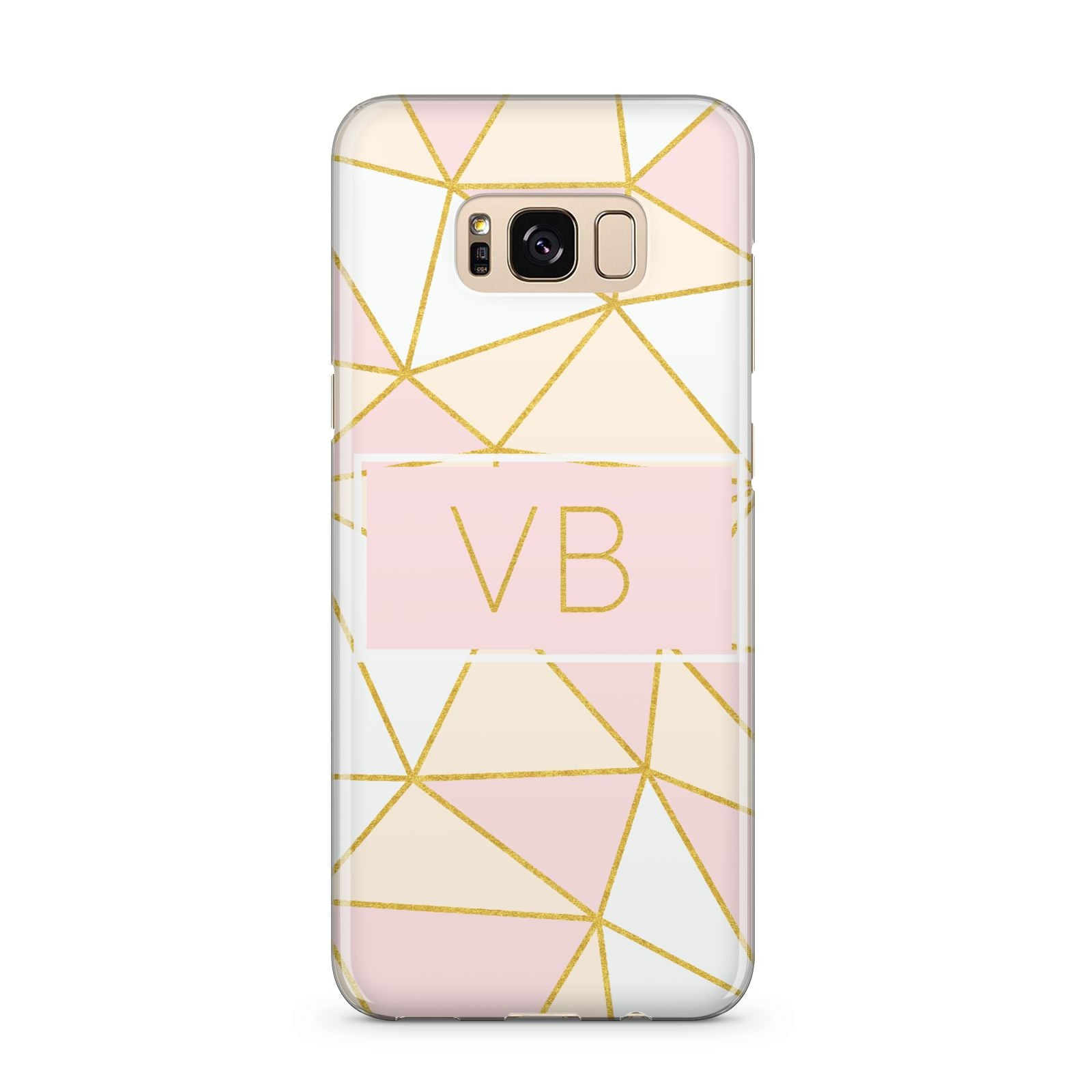 Personalised Gold Initials Geometric Samsung Galaxy S8 Plus Case