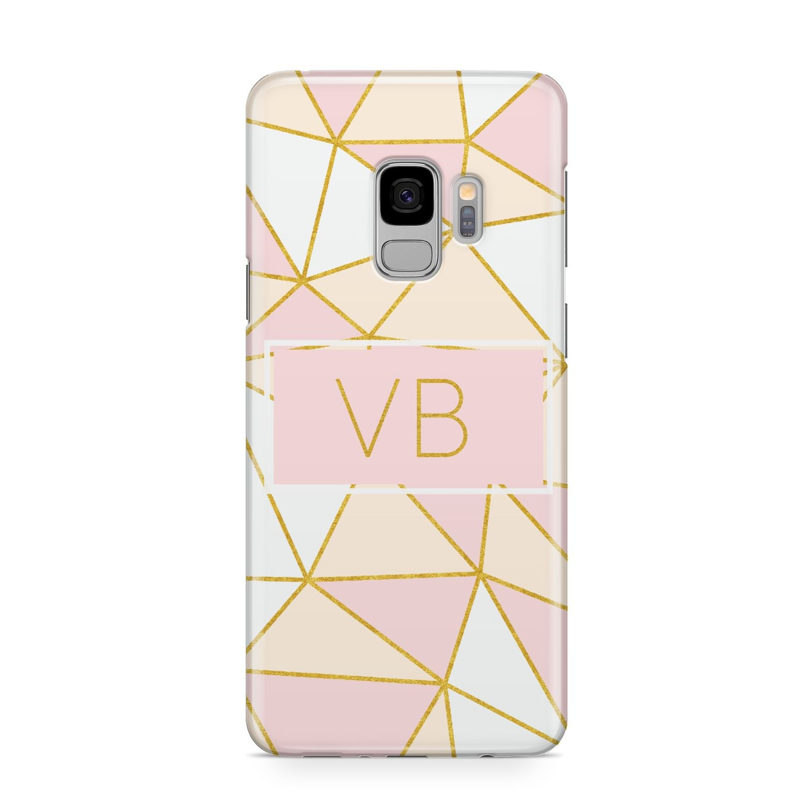Personalised Gold Initials Geometric Samsung Galaxy S9 Case