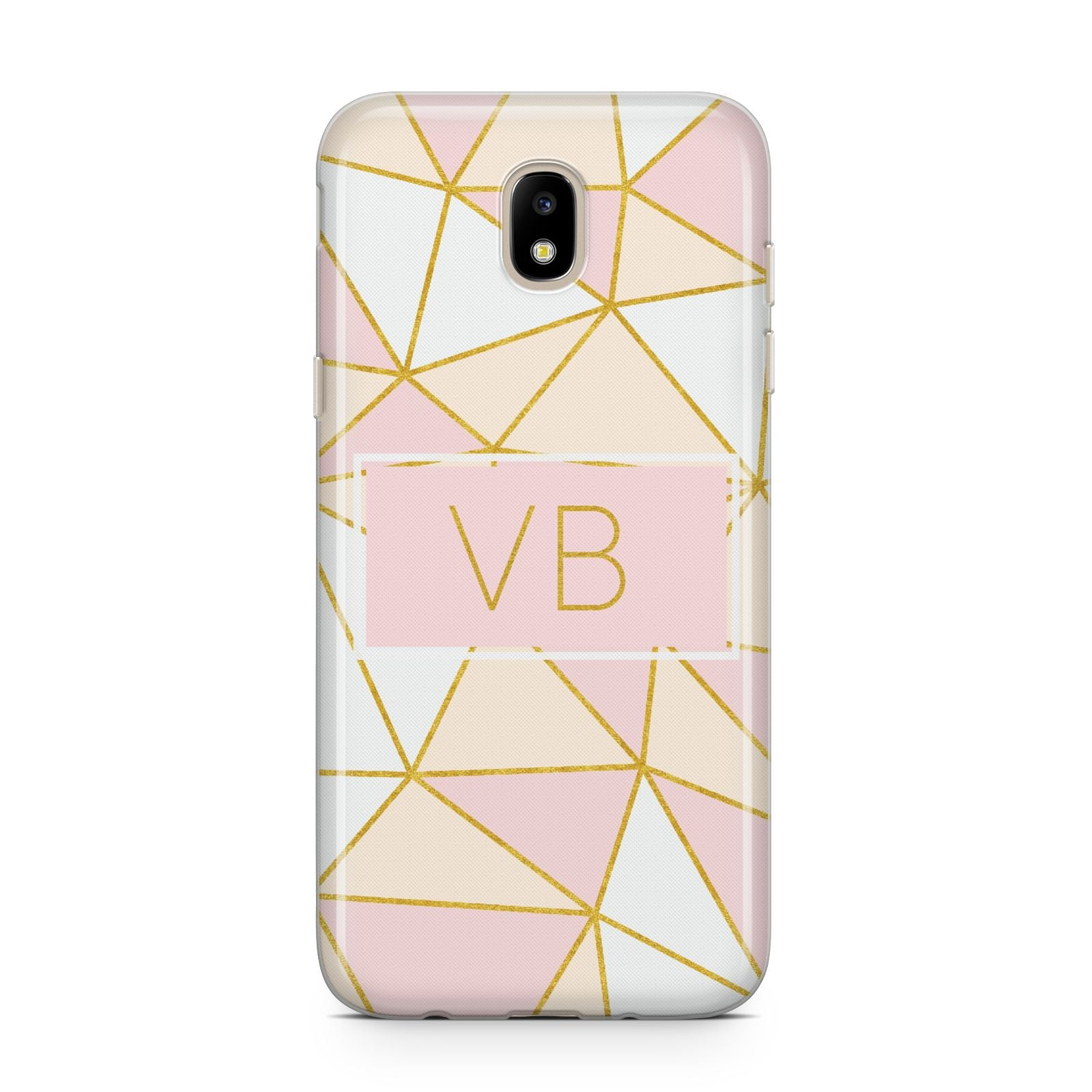 Personalised Gold Initials Geometric Samsung J5 2017 Case