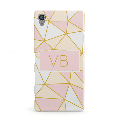 Personalised Gold Initials Geometric Sony Xperia Case